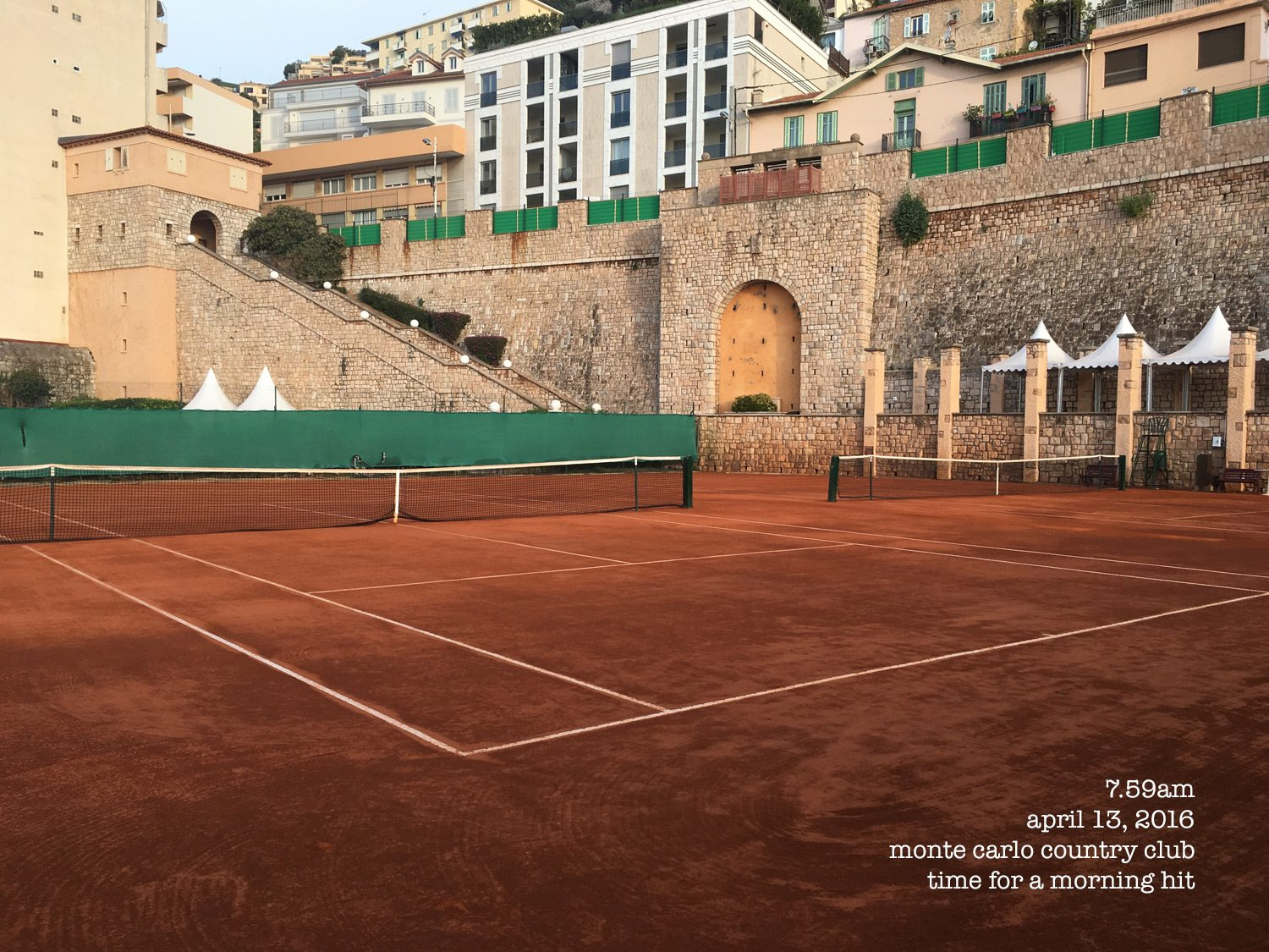Monte Carlo clay tennis court