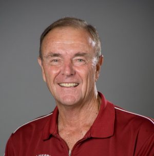 Stanford head tennis coach Dick Gould
