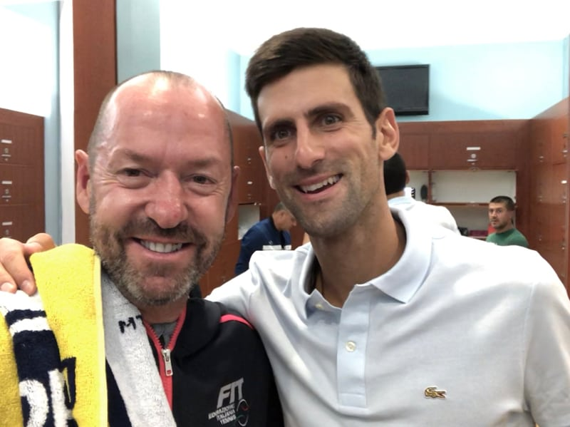 Craig O'Shannessy with Novak Djokovic